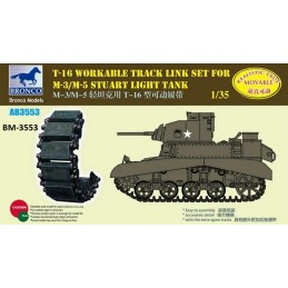 BM-3553 bronco model 3553 1/35 T-16 Workable Track Set for M-3/M-5 Stuart