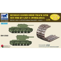 BM-3560 bronco model 3560 1/35 Russian 650mm Omsh Track Link Set For KV-1/KV-2 (Workable)