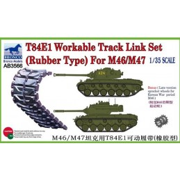 BM-3566 bronco model 3566 1/35 Bronco Models 3566 T-84E1 Workable Track Link Set(Rubber Type) For M46/M47