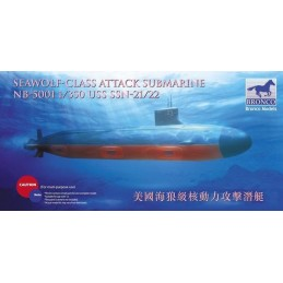 BM-5001 Bronco Models 5001 1/350 USS SSN Sea-Wolf attack submarine