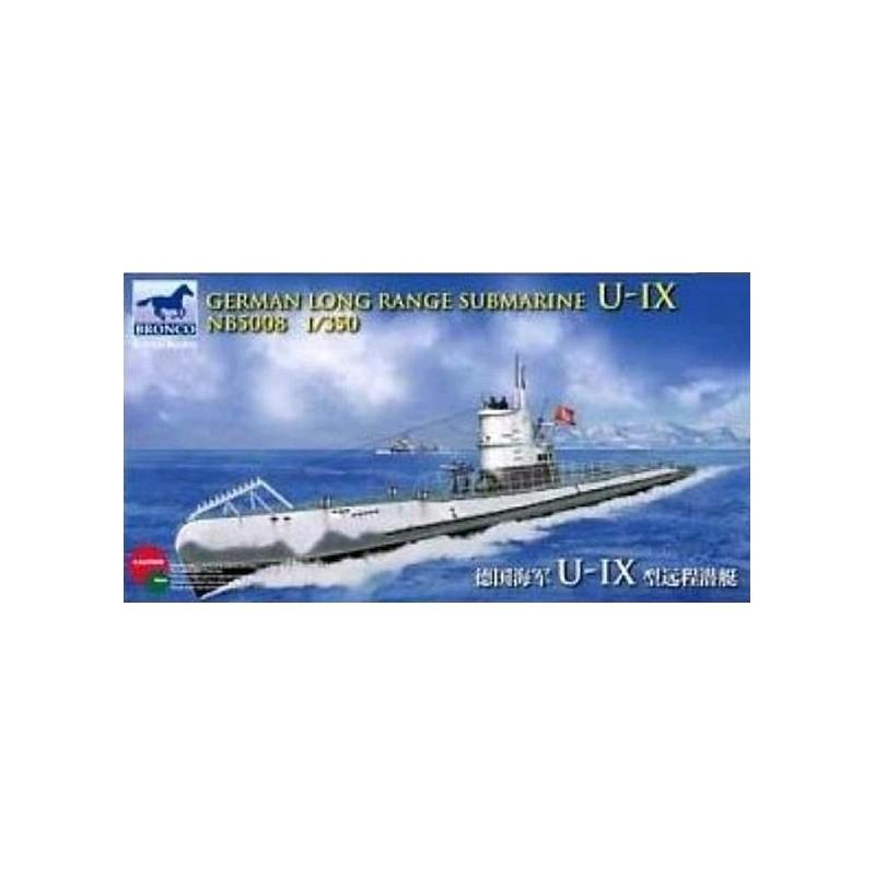 BM-5008 Bronco Models 5008 1:350 German Long Range Submarine Type U-IX