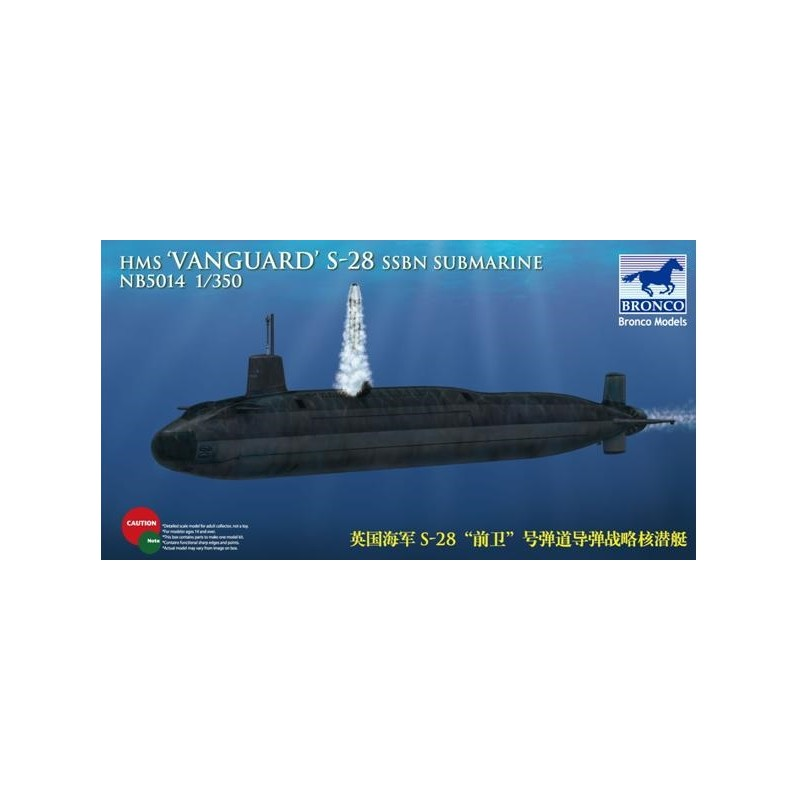 BM-5014 Bronco Models 5014 1/350 HMS-28 'Vanguard' SSBN Submarine