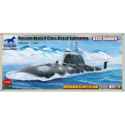 "BM-5020 Bronco Models 5020 1/350 Russian Akula II Class Attack Submarine ""K335 Giepard"""