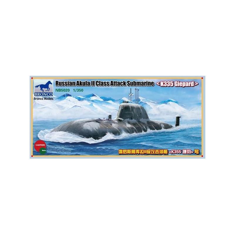 "BM-5020 Bronco Models 5020 1/350 Russian Akula II Class Attack Submarine ""K335 Giepard"""