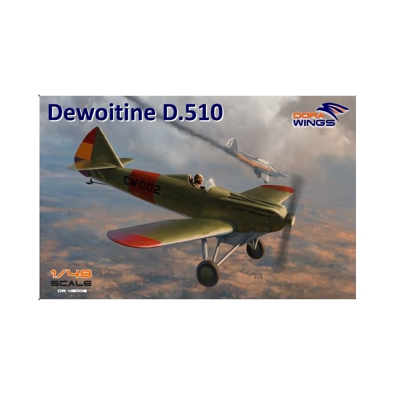 DW-48008 DORA WINGS  48008 1/48 Dewoitine D.510 Spanish civil war