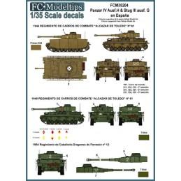 FC-35204 fc 35204 calcas 1/35 Calcas Panzer IV y Stug III en España