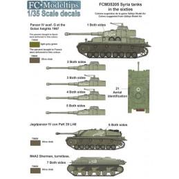 FC-35205 fc 35205 1/35 Calcas tanques sirios en los 50s, 60s y en la guerra de los seis días