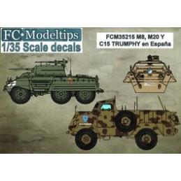 FC-35215 FC 35215 calcas ESPAÑOLAS 1/35 M8. M20 Y C15