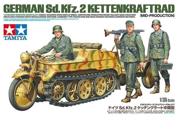 tamiya 35377 1/35 Ger. Sd.Kfz.2 Kettenkrad (Mid.Pro.)