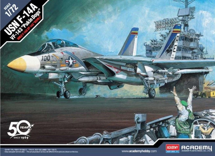 ACADEMY 12563 1/72 USN F-14A VF-143 PUKIN DOGS