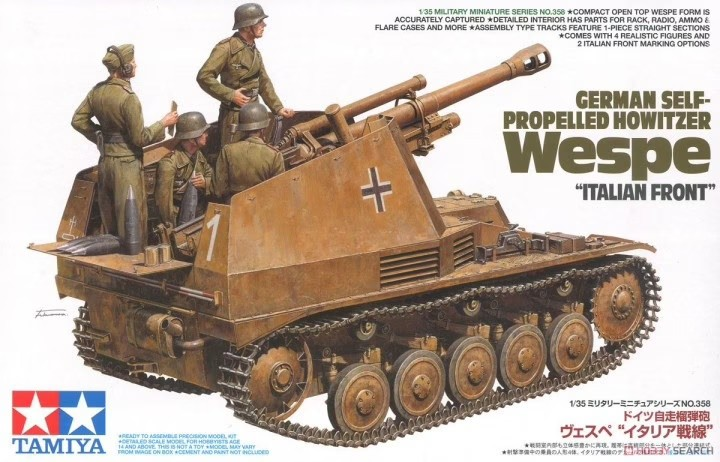 Tamiya 35358 1/35 German Self-Propelled Howitzer Wespe Italian Front