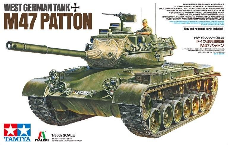 Tamiya 37028 1/35 West German Tank M47 Patton