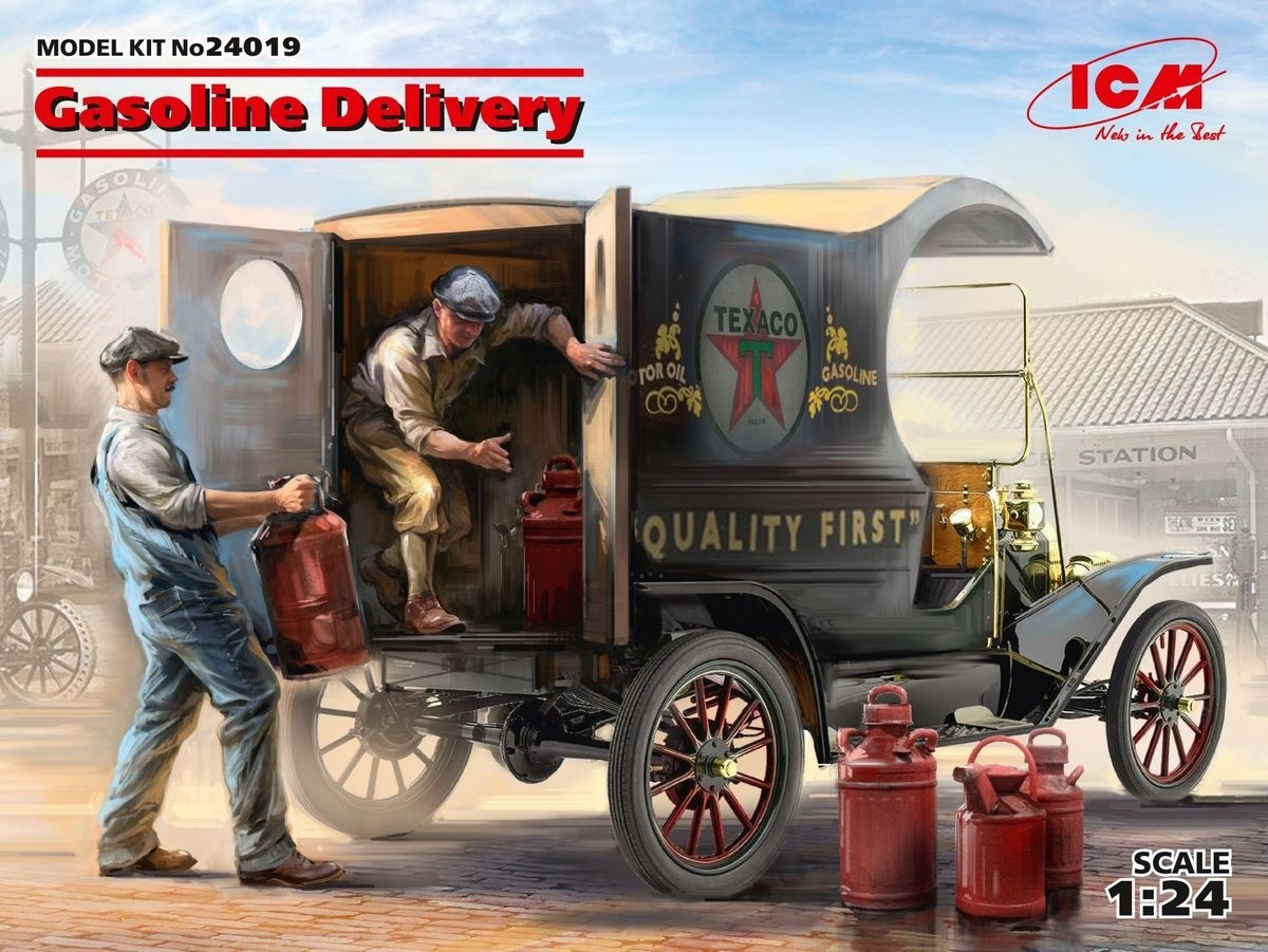 ICM 24019 1/24 Gasoline Delivery. Model T 1912 Delivery Car