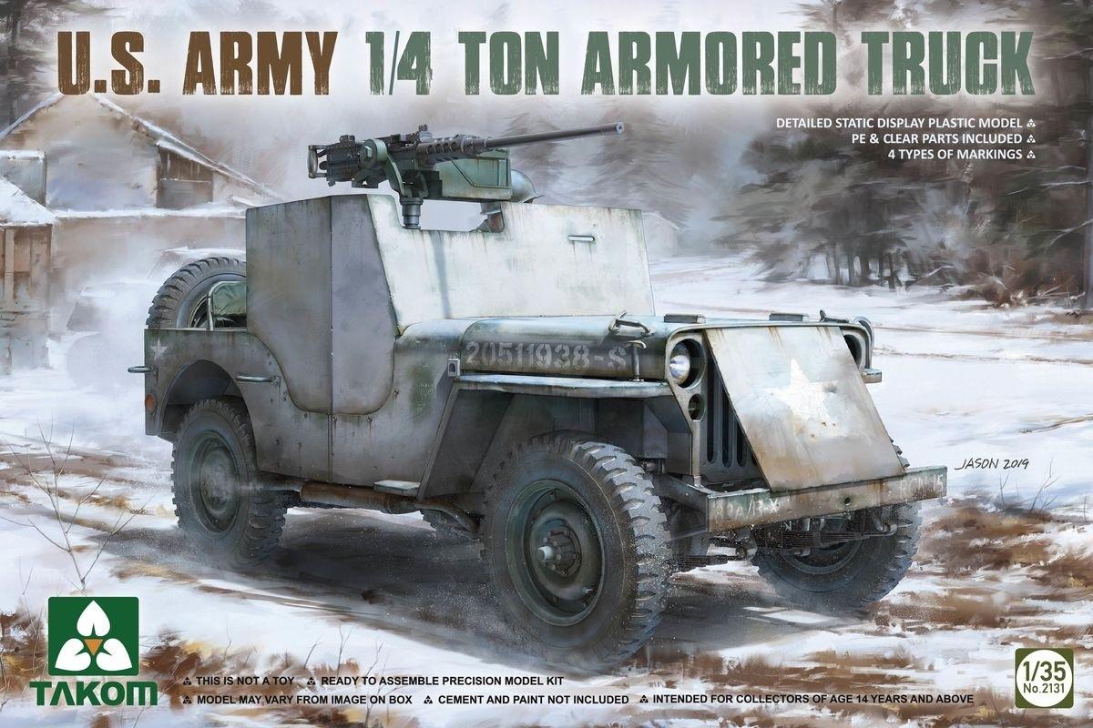 takom 2131 1/35 U.S. Army 1/4 Ton Armored Truck